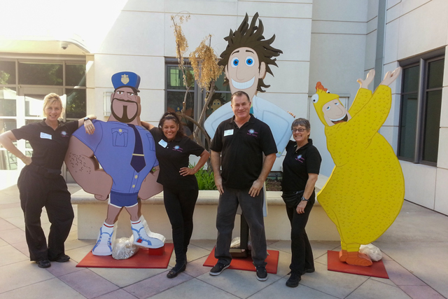 Body Energizers team at Sony Pictures